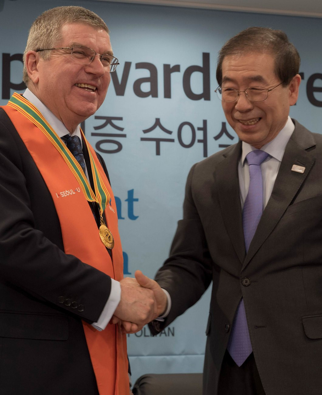 Thomas Bach has also been awarded an honorary citizenship by Seoul City
