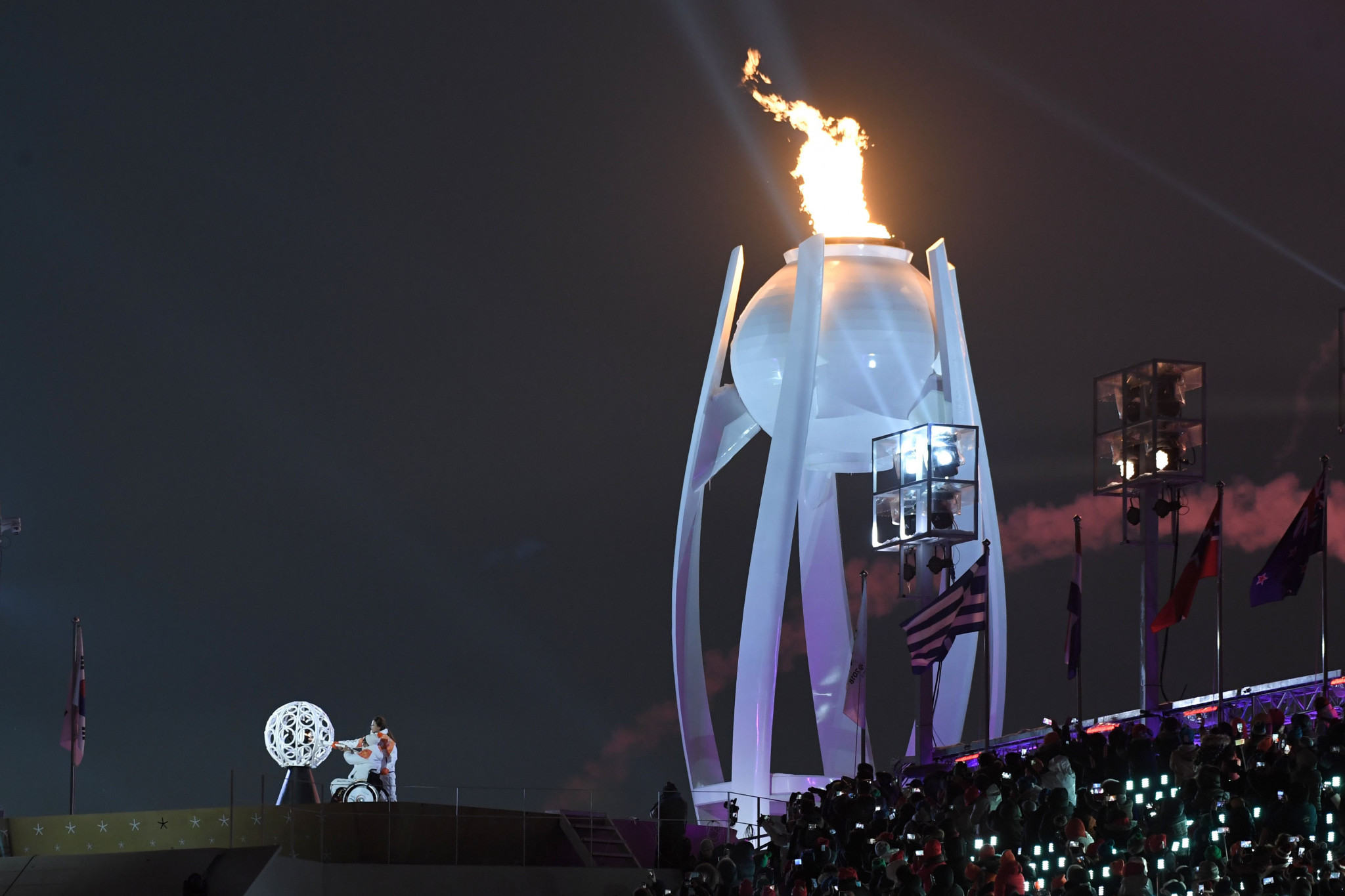 The lighting of the Paralympic Cauldron marked a fitting end to the Opening Ceremony ©Getty Images